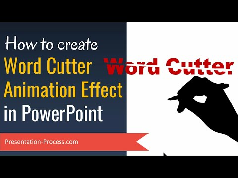 PowerPoint Animation: Word Cutter Effect