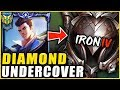 I HIRED A COACH AND PRETENDED TO BE AN IRON 4 JAYCE MAIN **THE COACH RAGE QUITS
