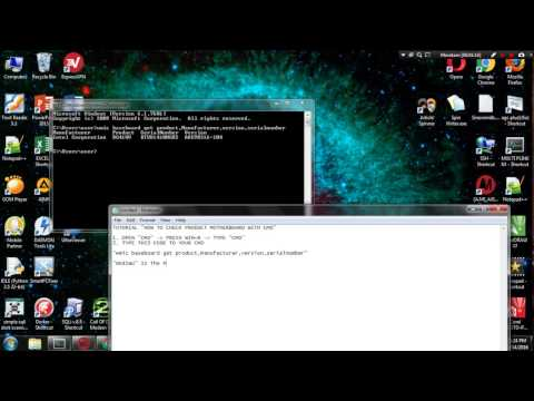 HOW TO CHECK PRODUCT MOTHERBOARD WITH CMD