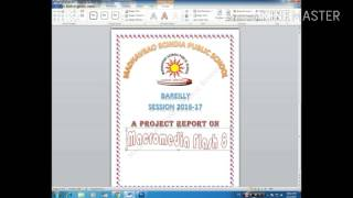 front page of school project