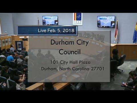 Durham City Council Feb. 5, 2018