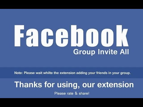 Group Invite All - Add All Facebook Friends In A facebook Group In A Single Click- Auto Add Tutorial