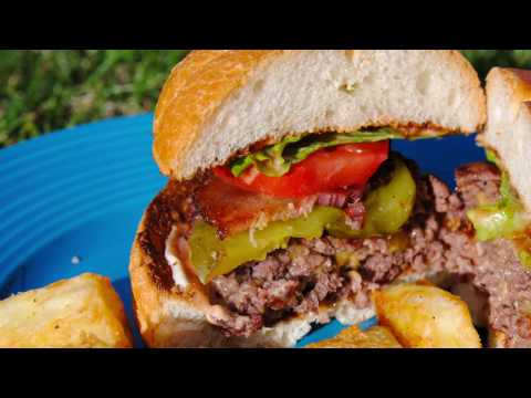 Jucy Lucy Grilled Stuffed Cheese Burger on the Weber
