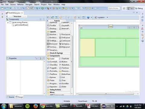 Java Gui Design w/ WindowBuilder Designer (Part 1 of 5)