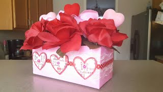 UPCYCLED DOG FOOD BOX to ROSE FLOWER BOX | VALENTINE'S DAY CRAFTS