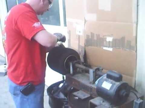 Homemade go kart Tire Cutter And Shop Overveiw