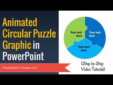 Animated Circular Puzzle Graphic in PowerPoint ( Step by Step)