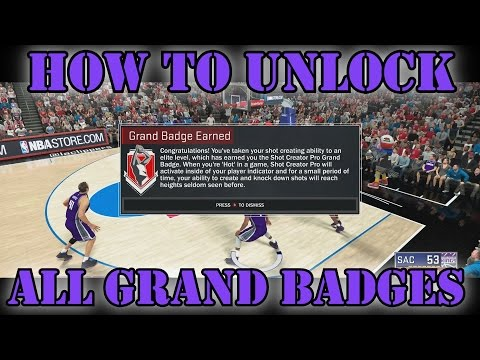 NBA 2K17 | How to get GRAND BADGES 100% confirmed (EASIEST and FASTEST METHOD)