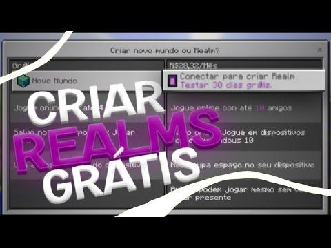 Como criar um Realms de Graça no Minecraft PE 1.0 OFICIAL 🎮