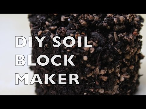 Starting Seeds with 3D-Printed Soil Block Maker