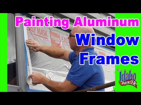 How To Paint Metal or Aluminum Windows.  Painting Aluminum Windows.