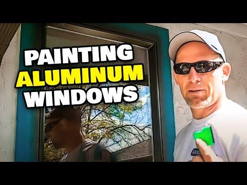 How To Paint Metal or Aluminum Windows.  Painting Aluminum Windows.