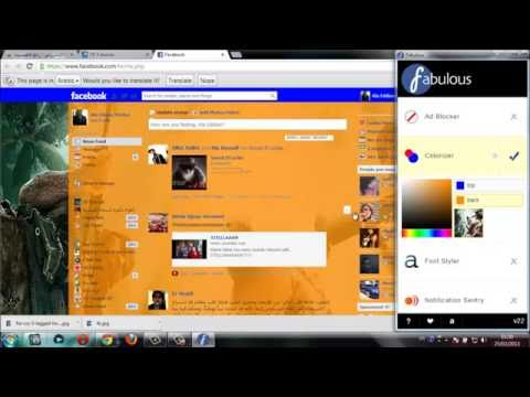 Change your facebook account style/theme safely