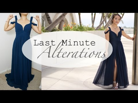 Prom Dress Alterations (Quick Fixes)