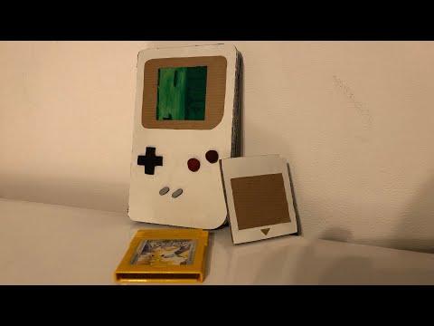 Nintendo Classic GameBoy + Cartridge from CARDBOARD