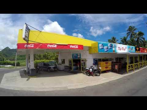 Rarotonga Clockwise bus from north to south