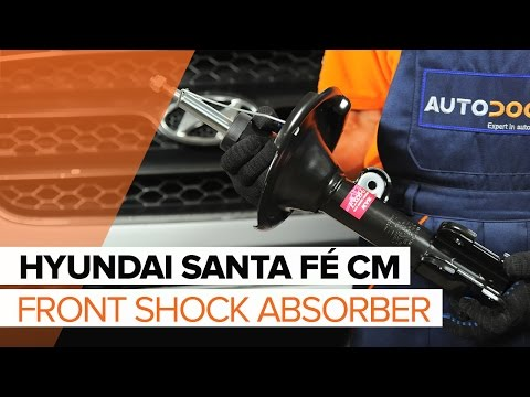 How to replace front shock absorbers on HYUNDAI SANTA FÉ CM TUTORIAL | AUTODOC