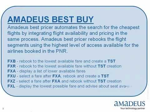 amadeus fares and pricing