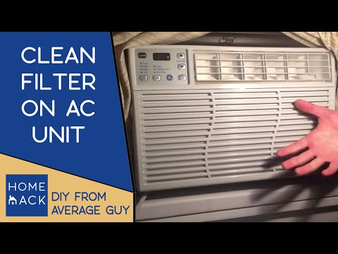 Clean filter on GE Window AC unit | cleaning air filter on air conditioner