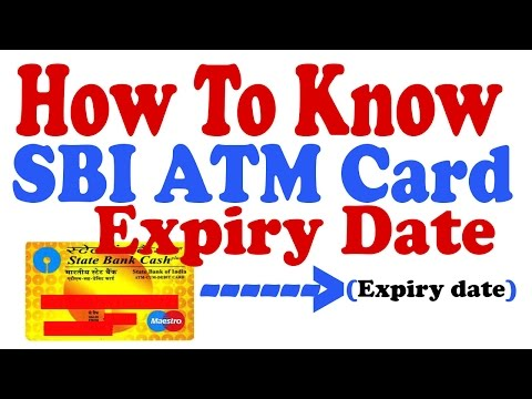 How to know SBI ATM Card EXpiry date online [Hindi]