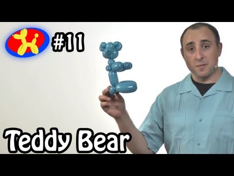 One Balloon Teddy Bear - Balloon Animal Lessons #11