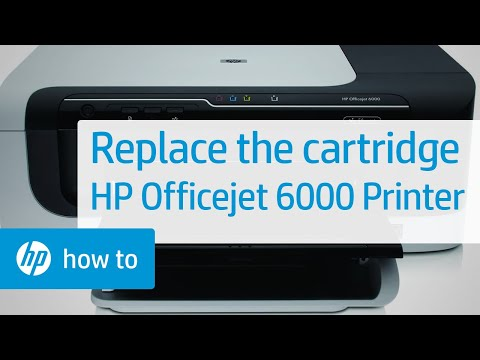 Replacing a Cartridge - HP Officejet 6000 Printer (E609a)