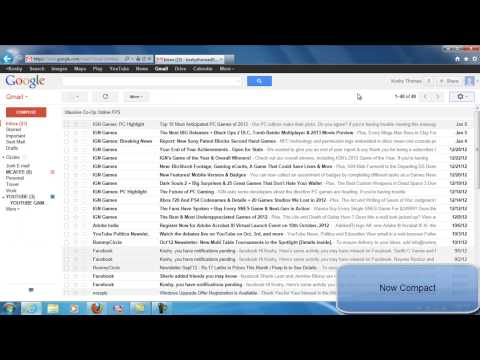 HOW TO CHANGE DISPLAY DENSITY SETTINGS IN GMAIL ACCOUNT