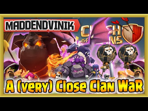 Clash of Clans - A (very) Close Clan War (Gameplay Commentary)
