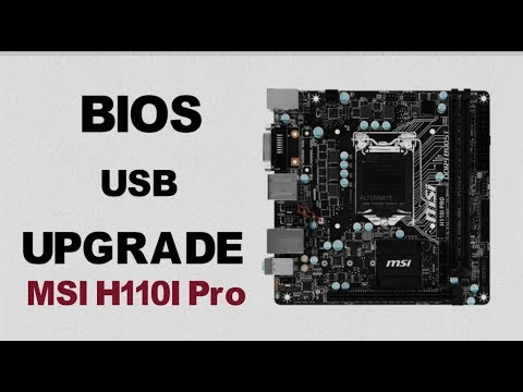 How to Upgrade a MSI Motherboard's Bios with a USB || MSI H110I Pro || MS-7995