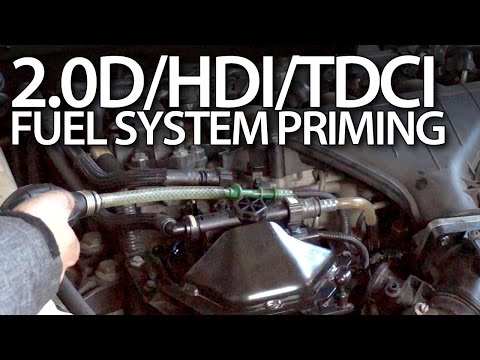 Priming fuel system in Volvo 2.0D Ford 2.0TDCi Peugeot 2.0HDi Citroen 136PS
