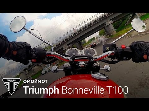 мотоцикл Triumph Bonneville T100 тест драйв омоймот