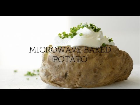 How to Make: Microwave Baked Potato with Sour Cream and Chives