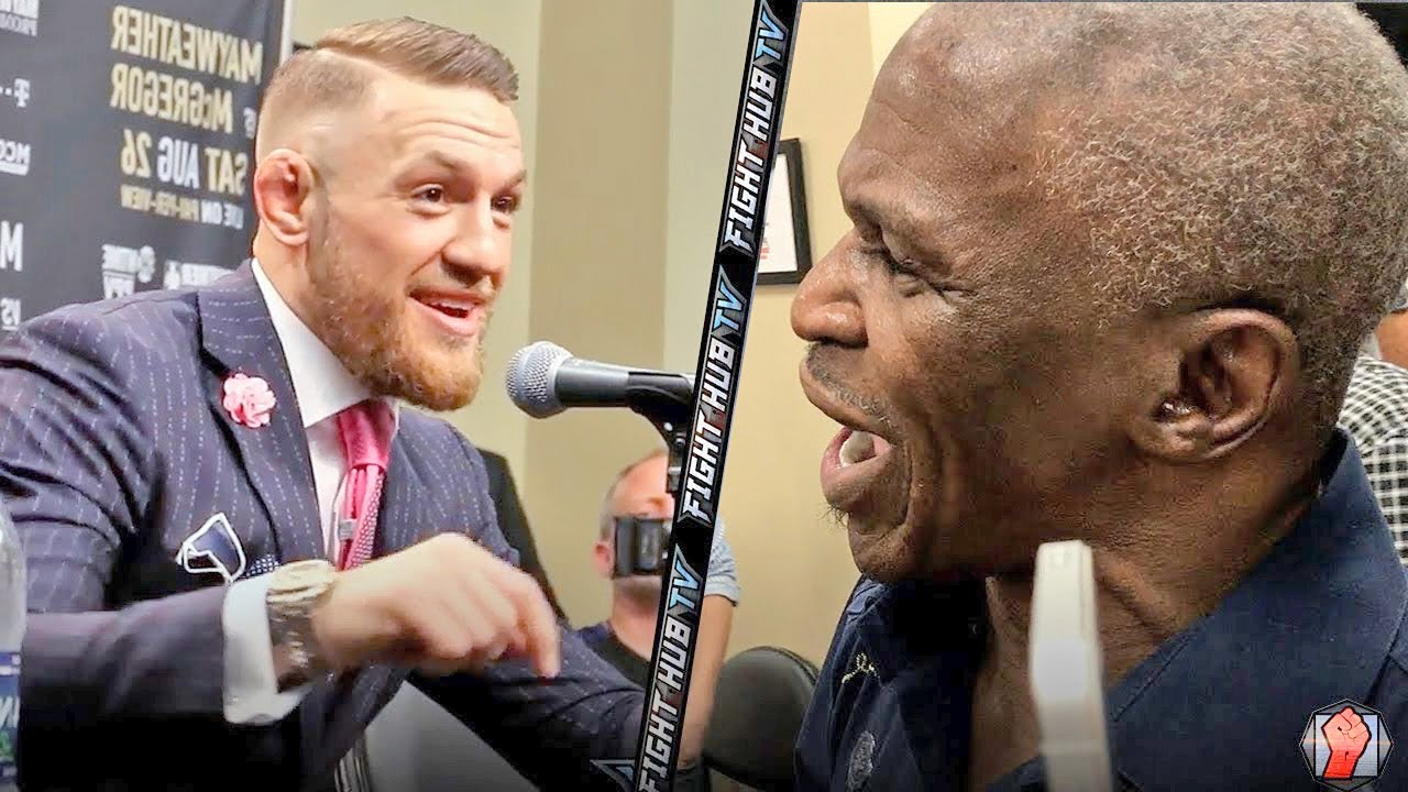 FLOYD MAYWEATHER SR EXPLODES ON CONOR MCGREGOR! THROWS PUNCH & CONOR LAUGHS AT HIM!