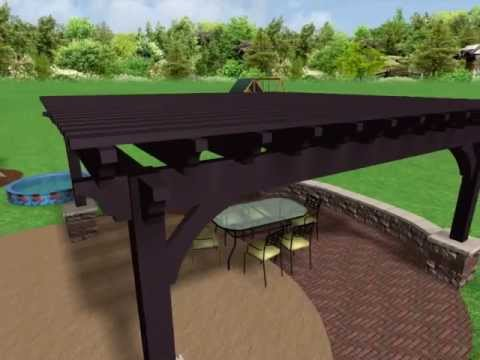 Sayl** Concept Video Western Timber Frame Full Pergola - No Louvered Roof System 042913