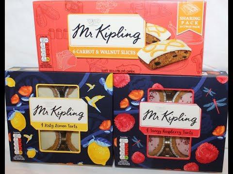 Mr. Kipling: Carrot & Walnut Slices, Zesty Lemon Tarts and Tangy Raspberry Tarts Review