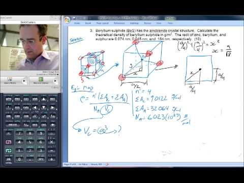 Theoretical density calculation of BeS (zincblende crystal structure)