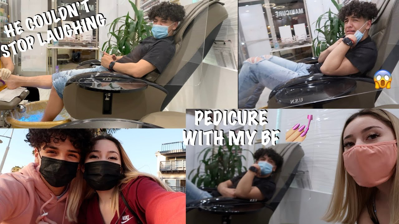 GETTING MATCHING PEDICURES WITH MY BOYFRIEND | FUNNY AF*