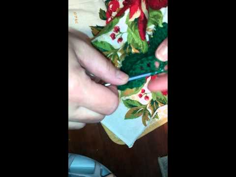 How to crochet on towels Video number 4