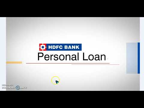 personal loan in HDFC BANK