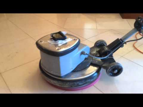 Cleaning and sealing a Limestone Floor Hull