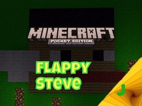 Minecraft Pocket Edition Flappy Bird  Mini Game- STEVIE BIRD