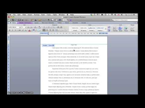 Inserting APA Headers in Word 2010 (Mac)
