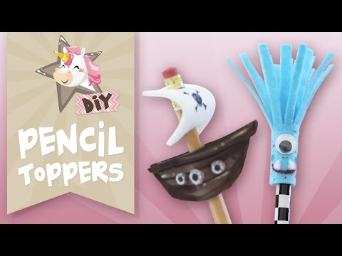 How to make pencil toppers - Back to school DIY tutorial - Quick and easy craft for kids