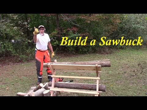 Sawbuck for Cutting Firewood~ Build one from Free Lumber DIY