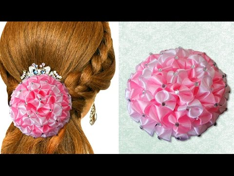 DIY for Girls : How to Make Beautiful Satin Ribbon Flower Accessories| Kanzashi Hair Accessories