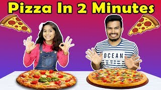Kids Making Pizza in 2 Minutes | Easy Pizza Recipe | इजी पिज़्ज़ा रेसिपी बाय परी