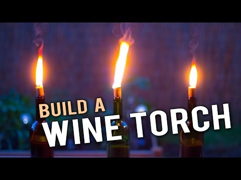 Build a Wine Bottle Tiki Torch