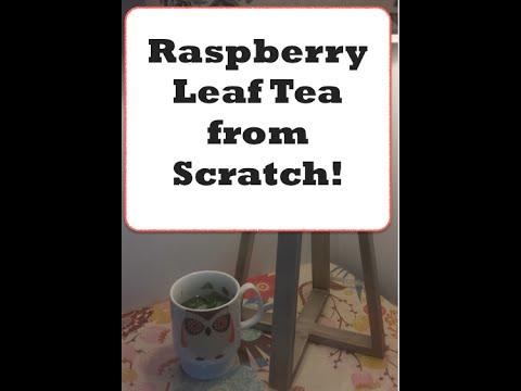 Raspberry leaf tea from scratch
