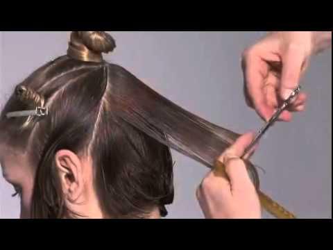 Hair cutting   A Line bob   preview    YouTube