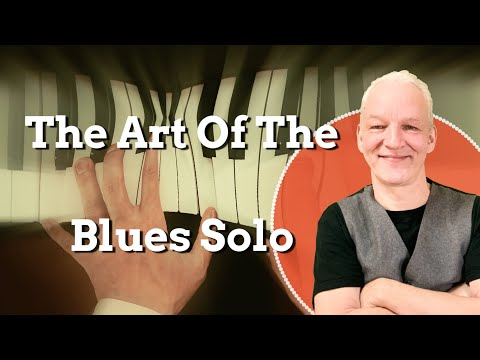 How to build up a solo. Blues Pianist talks you through licks and lines. Discusses ideas.
